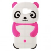 3D Cute Panda Silicone Cover for Samsung Galaxy A3 SM-A310F (2016) - Rose