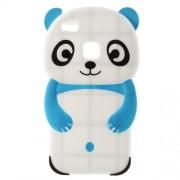 Θήκη Σιλικόνης 3D Σχέδιο Αρκουδάκι Panda Huawei P9 Lite - Μπλε/Λευκό
