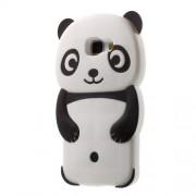 Θήκη Σιλικόνης 3D Σχέδιο Αρκουδάκι Panda για Samsung Galaxy A5 SM-A510F (2016) - Μαύρο/Λευκό