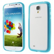 For Samsung Galaxy S4 I9505 I9502 I9500 Backless TPU Bumper Cover - Blue