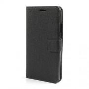 Δερμάτινη Θήκη Πορτοφόλι με Βάση Στήριξης για Samsung Galaxy Note 3 N9005 N9000 N9002 - Μαύρο