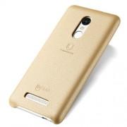 LENUO Music Case II Σκληρή Θήκη Λεπτή με Επένδυση Δέρματος για Xiaomi Redmi Note 3 Pro Special Edition - Χρυσαφί