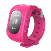 Q50 Παιδικό Smart Watch με Οθόνη, GPS Tracker SOS, Υποστηρίζει SIM κάρτα για IOS Android - Φούξια