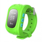 Q50 Children Smart Watch Kids Wrist Watch with Safety Monitoring GPS Tracker SOS Support SIM for IOS Android - Green