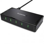 TRONSMART 90W 5 Ports Quick Charge 2 0 Desktop USB Charger - EU Plug