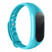 CUBOT V1 Αδιάβροχο Smart Watch Bluetooth με Μπρασελέ Σιλικόνης για Androit 4.3 ή Υψηλότερο και IOS 8.0 ή Υψηλότερο - Μπλε