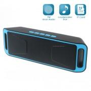 Ηχείο Bluetooth για Μουσική και Ομιλία / Υποστηρίζει Κάρτα TF / Είναι και Ραδιόφωνο - Μπλε