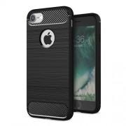 Θήκη Σιλικόνης TPU Carbon Fibre Brushed για iPhone 7 Plus - Μαύρο