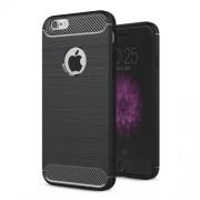 Θήκη Σιλικόνης TPU Carbon Fibre Brushed για iPhone 6s / 6 - Μαύρο