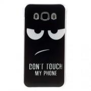 Θήκη Σιλικόνης TPU για Samsung Galaxy J5 (2016) - Πονηρή Φατσούλα με τη Φράση Don't Touch my Phone