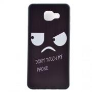 Θήκη Σιλικόνης TPU για Samsung Galaxy A5 SM-A510F (2016) - Πονηρή Φατσούλα με τη Φράση Don't Touch my Phone