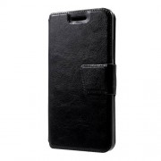 Crazy Horse Leather Stand Case for Lenovo K6 - Black