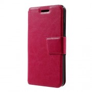 Crazy Horse Leather Card Holder Case for Lenovo K6 - Rose