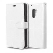 3 Card Slots Leather Flip Stand Phone Cover for Lenovo Vibe X3 Lite/A7010/K4 Note - White