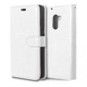 Δερμάτινη Θήκη Πορτοφόλι με Βάση Στήριξης (Γυαλιστερή Όψη) για Lenovo A7010 / Vibe X3 Lite / K4 Note - Λευκό
