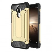 Armor Case Plastic + TPU Combo Cover with Anti-dust Plugs for Huawei Mate 9 - Gold