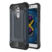 Armor Guard PC + TPU Hybrid Cell Phone Case for Huawei Honor 6x (2017) - Dark Blue