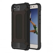 Armor Guard Plastic + TPU Hybrid Case for Huawei Y6 II/Y6II/Honor 5A - Black