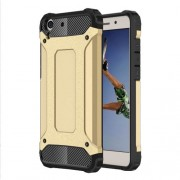 Armor Guard Plastic + TPU Hybrid Case Shell for Huawei Y6 II/Y6II/Honor 5A - Gold