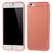 0.6mm Slim Glossy TPU Skin Protector for iPhone 6s / 6 4.7 inch - Red