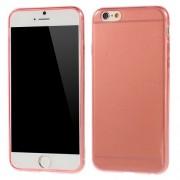 Γυαλιστερή Θήκη Σιλικόνης TPU 0.6mm για iPhone 6 / 6s - Κόκκινο