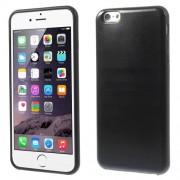 Θήκη Σιλικόνης με Επένδυση Δέρματος για iPhone 6s Plus / 6 Plus - Μαύρο