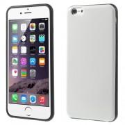 Θήκη Σιλικόνης με Επένδυση Δέρματος για iPhone 6s Plus / 6 Plus - Λευκό