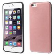 Θήκη Σιλικόνης με Επένδυση Δέρματος για iPhone 6s Plus / 6 Plus - Ροζ