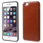 Θήκη Σιλικόνης με Επένδυση Δέρματος για iPhone 6s Plus / 6 Plus - Καφέ
