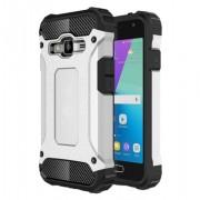 Tough Armor Υβριδική Θήκη Σιλικόνης TPU σε Συνδυαμό με Πλαστικό για Samsung Galaxy J1 mini prime - Ασημί