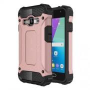 Tough Armor Υβριδική Θήκη Σιλικόνης TPU σε Συνδυαμό με Πλαστικό για Samsung Galaxy J1 mini prime - Ροζέ Χρυσαφί