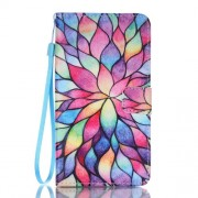 PU Leather Wallet Case Cover for Samsung Galaxy J7 (2016) - Colorful Petals