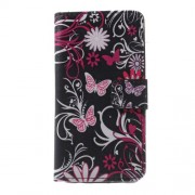 Callfree Stand Leather Case for Samsung Galaxy A3 SM-A310F - Butterflies and Flowers