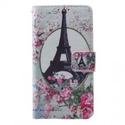 Callfree Leather Case Cover for Samsung A3 SM-A310F (2016) - Eiffel Tower and Flowers