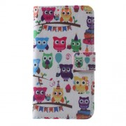 Callfree Leather Flip Case for Samsung Galaxy A3 SM-A310F - Multiple Lovely Owls