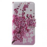 Callfree Leather Wallet Cover for Samsung A3 SM-A310F (2016) - Wintersweet Flowers