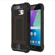 Heavy Duty Rugged Hybrid Cell Phone Case (Plastic + TPU) for Samsung Galaxy A3 (2017) - Black
