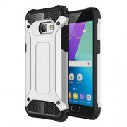 Heavy Duty Rugged Combo Cell Phone Shell (Plastic + TPU) for Samsung Galaxy A3 (2017) - Silver