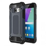 Hybrid Heavy Duty Rugged Cellphone Case (Plastic + TPU) for Samsung Galaxy A3 (2017) - Dark Blue