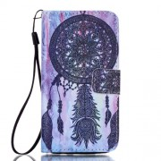 Leather Wallet Case Cover for Samsung Galaxy A5 SM-A510F (2016) - Grey Dream Catcher