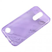 For LG K10 (2017) S-line Pattern TPU Skin Case Cover - Purple