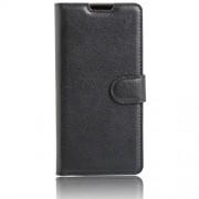 Δερμάτινη Θήκη Πορτοφόλι με Βάση Στήριξης για LG K3 (4G) - Μαύρο