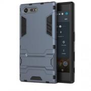 Υβριδική Θήκη Συνδυασμού Σιλικόνης TPU και Πλαστικού με Βάση Στήριξης για Sony Xperia X Compact - Μπλε
