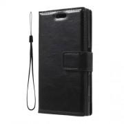 Δερμάτινη Θήκη Πορτοφόλι με Βάση Στήριξης για Sony Xperia X Compact - Μαύρο