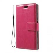 Δερμάτινη Θήκη Πορτοφόλι με Βάση Στήριξης για Sony Xperia X Compact - Φούξια
