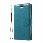 Δερμάτινη Θήκη Πορτοφόλι με Βάση Στήριξης για Sony Xperia X Compact - Μπλε