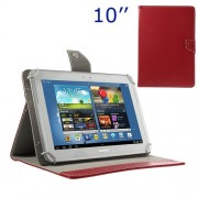 Universal Crazy Horse Leather Case w/ Stand for iPad Air / Sony Xperia Tablet Z 10-inch Tablet PC - Red