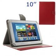 Universal Δερμάτινη Θήκη Βιβλίο με Βάση Στήριξης για iPad Air / Sony Xperia Tablet Z 10 ιντσών Tablet PC - Κόκκνο