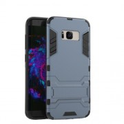 PC + TPU Hybrid Kickstand Case for Samsung Galaxy S8 Plus - Dark Blue