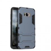 PC + TPU Kickstand Phone Case Accessory for Samsung Galaxy S8 - Dark Blue